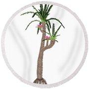 Williamsonia Gigas Prehistoric Tree Round Beach Towel