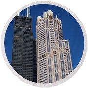 Willis Tower Chicago Round Beach Towel