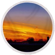 Willow Rd Sunset 2.27.2014 Round Beach Towel