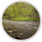 Willow River 3 Round Beach Towel