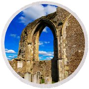 Winchelsea Church Round Beach Towel