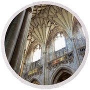 Winchester Cathedral Round Beach Towel