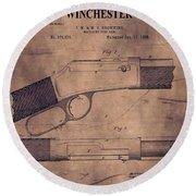 Winchester Rifle Patent Round Beach Towel