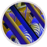 Wind Abstract No2 Horz Round Beach Towel