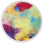 Wind Abstract Painting Round Beach Towel