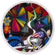 Wind Art Round Beach Towel
