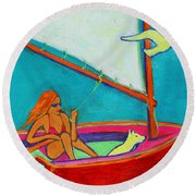 Wind Beneath My Wings I Round Beach Towel by Xueling Zou