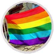Wind Blown Pride Round Beach Towel