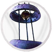 Wind Chime 8 Round Beach Towel by Sharon Cummings