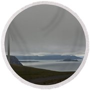 Wind Energy Round Beach Towel