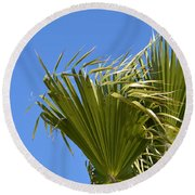 Wind In The Palm Round Beach Towel