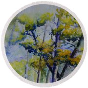 Wind In The Trees  Round Beach Towel