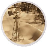 Wind Mill Round Beach Towel