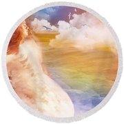Wind Of His Glory Round Beach Towel by Jennifer Page
