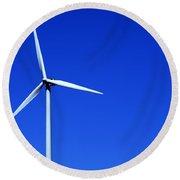 Wind Powered Electric Turbine Round Beach Towel