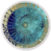 Wind Rose Map Of The Winds Round Beach Towel