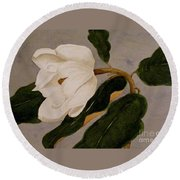 Windblown Magnolia Round Beach Towel