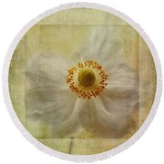 Windflower Textures Round Beach Towel