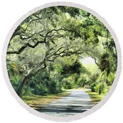 Winding Path Round Beach Towel