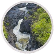 Winding River Pools Round Beach Towel