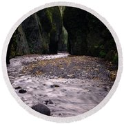 Winding Through Oneonta  Gorge Round Beach Towel