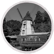 Windmill 3 Round Beach Towel