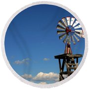 Windmill-5749b Round Beach Towel