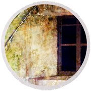 Window - Water Color - Fort Round Beach Towel