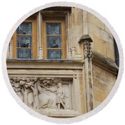 Window And Relief Palace Ducal Round Beach Towel