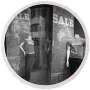 Window Display Sale With Mannequins No.1292 Round Beach Towel