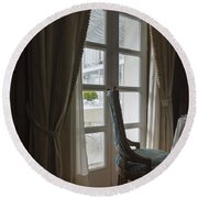 Window Light Round Beach Towel