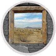 Window Onto Big Bend Desert Southwest Color Splash Black