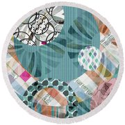 Window Shopping II Round Beach Towel