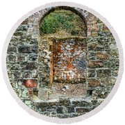 Window To A Bygone Heritage Round Beach Towel