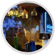 Window To My Kitchen Round Beach Towel by Brian Wallace