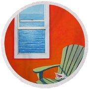 Window To The Sea No. 1 - Seashell Round Beach Towel
