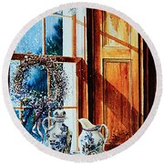 Window Treasures Round Beach Towel
