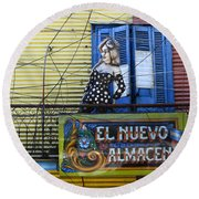 Windows And Doors Buenos Aires 17 Round Beach Towel