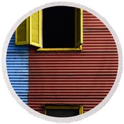 Windows And Doors Buenos Aires 16 Round Beach Towel