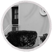 Windows In The Round In Black And White Round Beach Towel