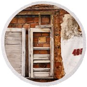 Windows Of Alcantara Brazil 1 Round Beach Towel