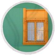 Windows Of The World - Santiago Chile Round Beach Towel