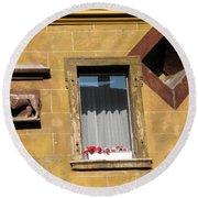 Windows To Budapest Round Beach Towel