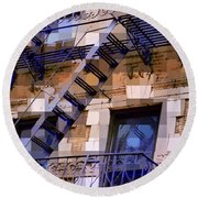Windowscape 7 - Old Buildings Of New York City Round Beach Towel