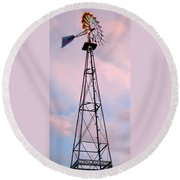 Windpump Round Beach Towel