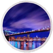 Winds And Lights Round Beach Towel