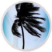 Winds Of Blue Round Beach Towel