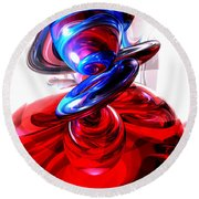 Windstorm Abstract Round Beach Towel
