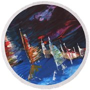 Windsurf Impression 05 Round Beach Towel