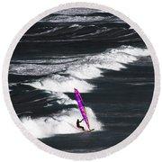 Windsurfing Man Round Beach Towel